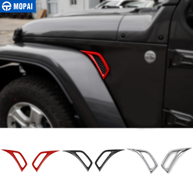 MOPAI Car Wheel Eyebrow Side Air Conditioning Vent Outlet Decoration Cover Sticker for Jeep JL Wrangler 2018 Car Accessories|Styling Mouldings| |  - title=