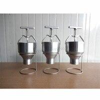 Manual da máquina de rosquinha de aço inoxidável donut maker rosquinhas ferramenta de produção operação manual 6 níveis ajuste manual