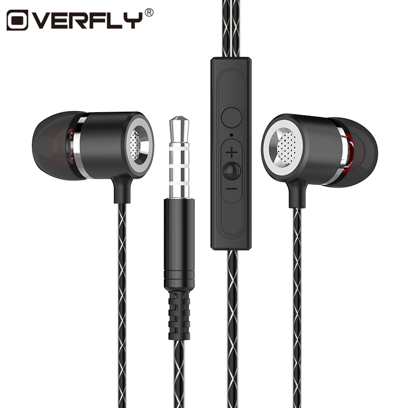 Overfly S1 Metal Earphone Sport Music Stereo Super Bass Wired Headphone Noise Cancelling With Mic For Mp3 iphone Xiaomi Samsung marsnaska new shoelaces noise cancellation earpiece stereo metal bass earphone 3 5mm earbuds with mic for iphone xiaomi samsung