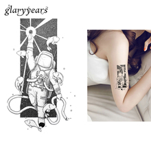 1 Sheet Temporary Tattoo Sticker KM-058 Waterproof Tatoo Spaceman Outer Space Fish Decal For Flower Arm DIY Body Art