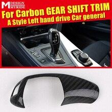 For BMW E39 E60 F10 F18 G30 G38 Left hand drive Carbon Fiber car genneral Gear Shift Knob Cover Car Interior 520i 528i 530i 533i цены