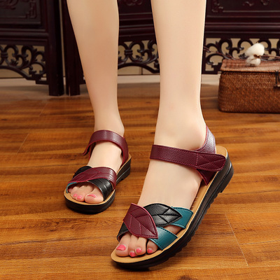 Zzpohe-Summer-New-Mother-Sandals-Soft-Bottom-Anti-Skid-Middle-Aged-Fashion-Woman