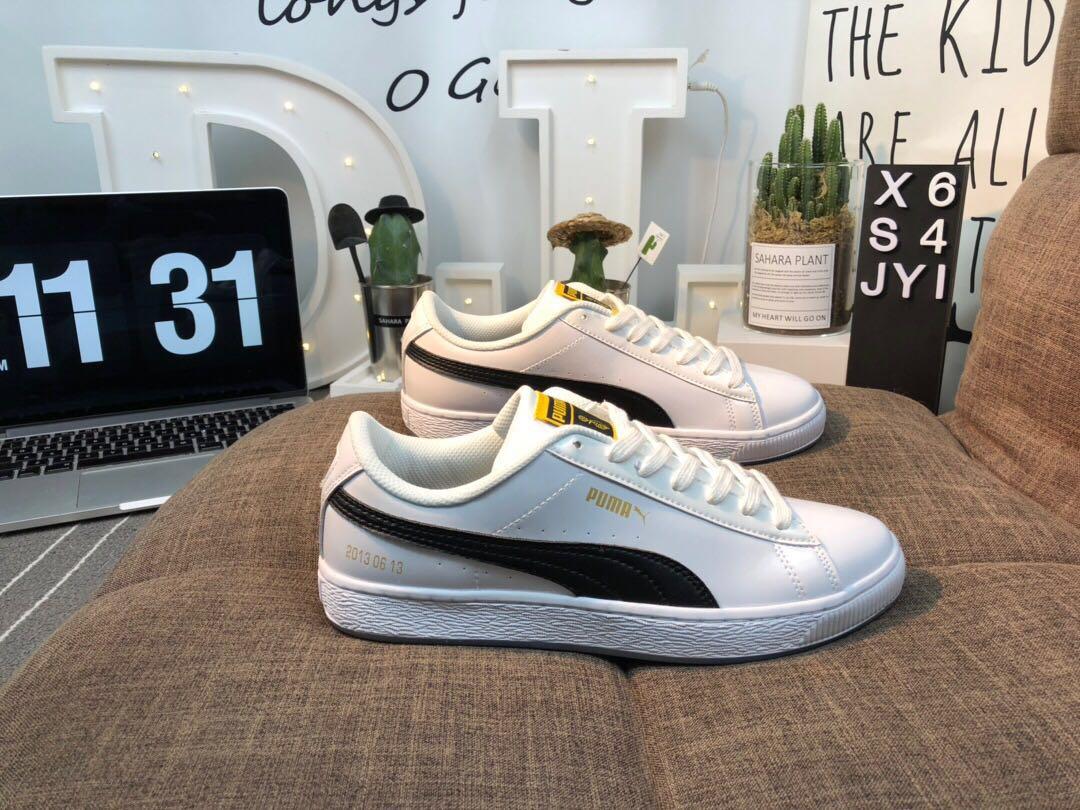 pretty nice fcc8b cd987 PUMA X BTS Basket Patent Shoes Bangtanboys Collaborat ...