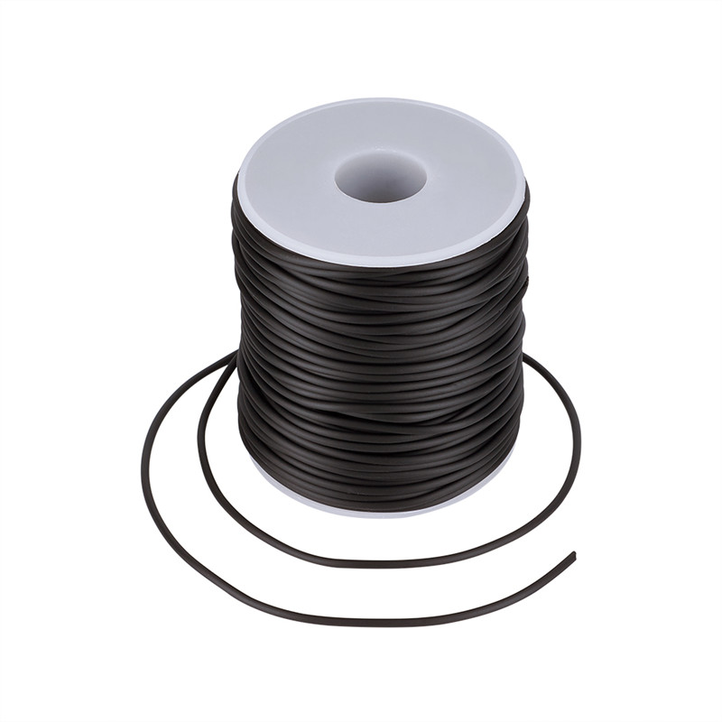 Pandahall 50m/roll 2mm PVC Hollow Pipe Tubular Rubber Cord Thread Wrapped With White Plastic Spool Jewelry Making Hole: 1mm
