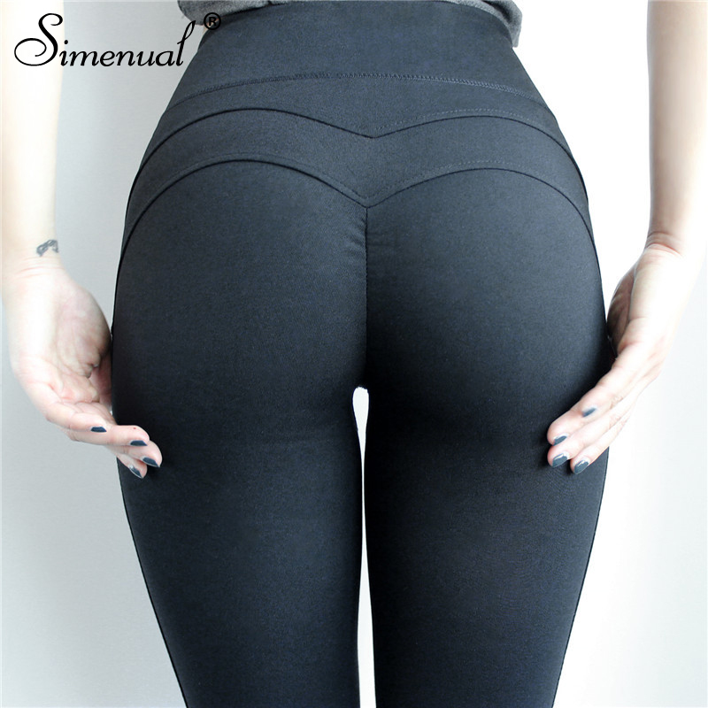 Simenual Sport push up leggings pour femmes fitness vêtements taille haute musculation legging femme pantalon noir slim jeggings