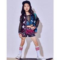 New Children Sequins Jazz Dance Performance Costumes Girls Child Hip Hop Modern Dance Suit Kids Baseball