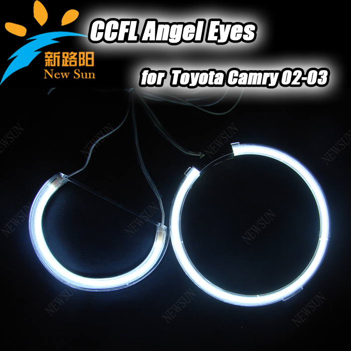 ultra bright ccfl auto lamp 4 rings + 2 Inverters CCFL car Angel eyes halo ring kits for Toyota Camry 02-03