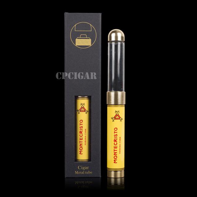 Smoking Gadget Automatically Adjust Length Cigar Tube Jar Advanced Travel Cigar Case Humidor With Humidifier