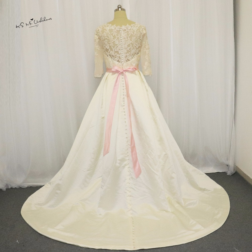 Buy vintage women long sleeve muslim for Vintage wedding dresses for cheap