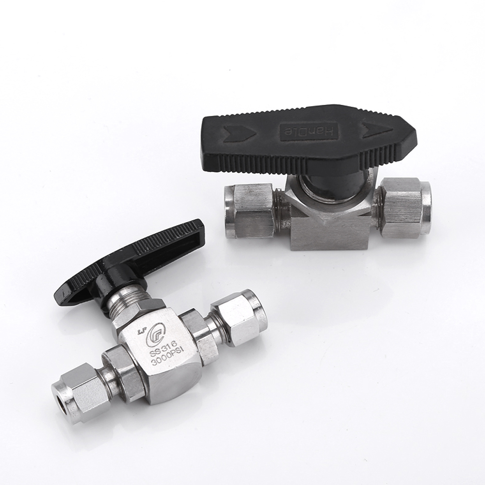 Fit 1/8 1/4 3/8 1/2 3/4 6/12mm OD Tube Compression Ball Valve High Pressure 316L Stainless Stel 3000 PSI Water Gas Fuel OilFit 1/8 1/4 3/8 1/2 3/4 6/12mm OD Tube Compression Ball Valve High Pressure 316L Stainless Stel 3000 PSI Water Gas Fuel Oil