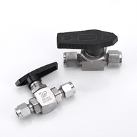 Fit 1/8 1/4 3/8 1/2 3/4 6/12mm OD Tube Compression Ball Valve High Pressure 316L Stainless Stel 3000 PSI Water Gas Fuel Oil
