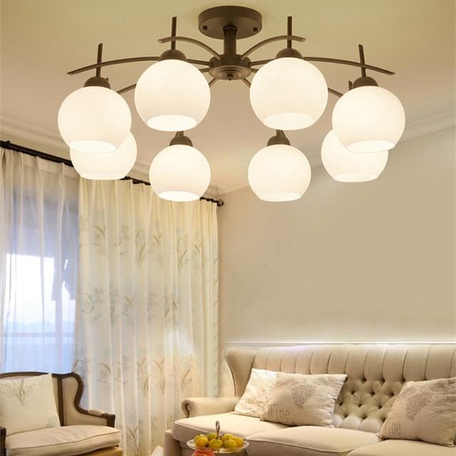 Moderne acryl Schmiedeeisen E27 Decke Lampe Wohnzimmer Vintage ...