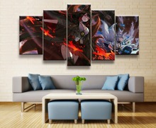 Canvas 5 Piece Wall Art Painting For Living Room DecorativeHD P rint Azur Lane Akagi Game