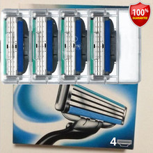 Envío Gratis 8 unids/lote Cuchillas de Afeitar Las Hojas de afeitar para Hombres Gilett gilletts Mache 3 Cuchillas de Afeitar de Energía