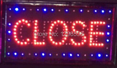 2017 hot sale custom led sign 10X19 inch indoor Ultra Bright flashing led light display business store closed open signage in Plaques Signs from Home Garden