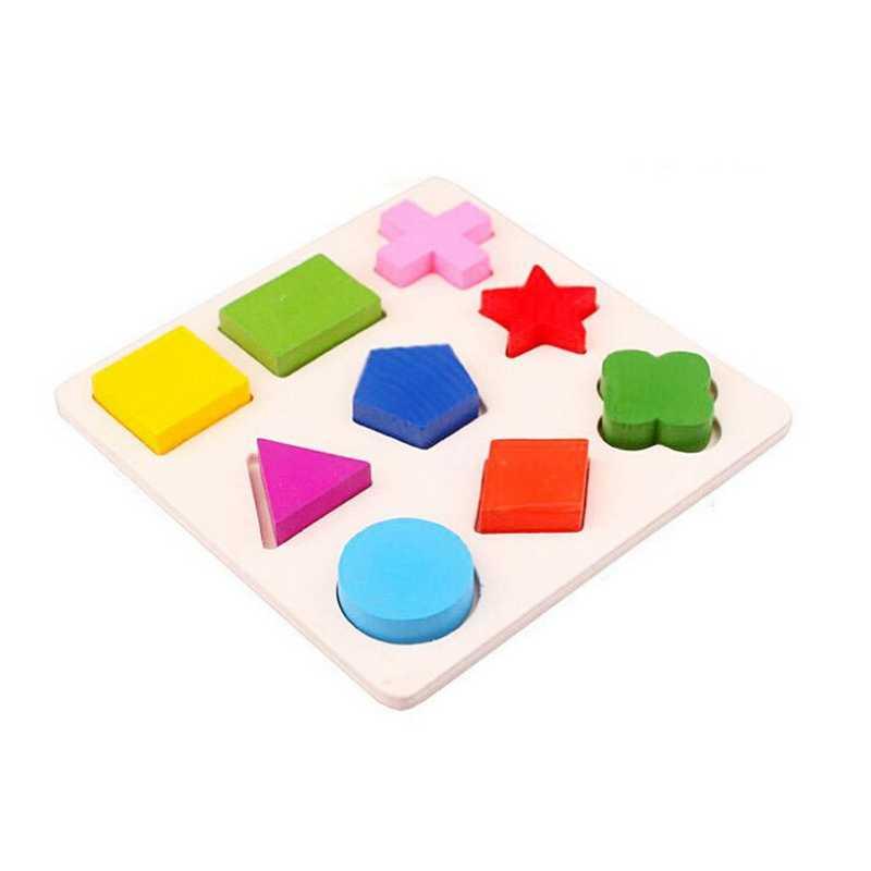 3D деревянный пазл игрушка montessori геометрический познавательный доска сортировки математические пазлы Игрушки для раннего развития детей для детей