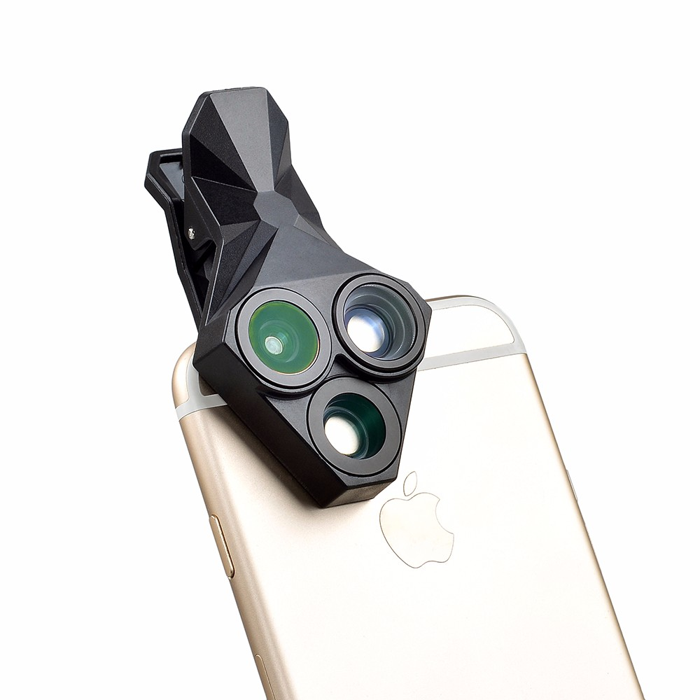 APEXEL arrival Camera Lens Kit 3 in 1 Fisheye Lens Wide Angle Macro mobile phone Lens Kit for iPhone Android Xiaomi APL-YT3 11