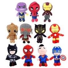 Новая игрушка! Мягкие и плюшевые куклы Мстители 3 Marvel танос Человек-паук супер герой Грут Плюшевые игрушки подарки
