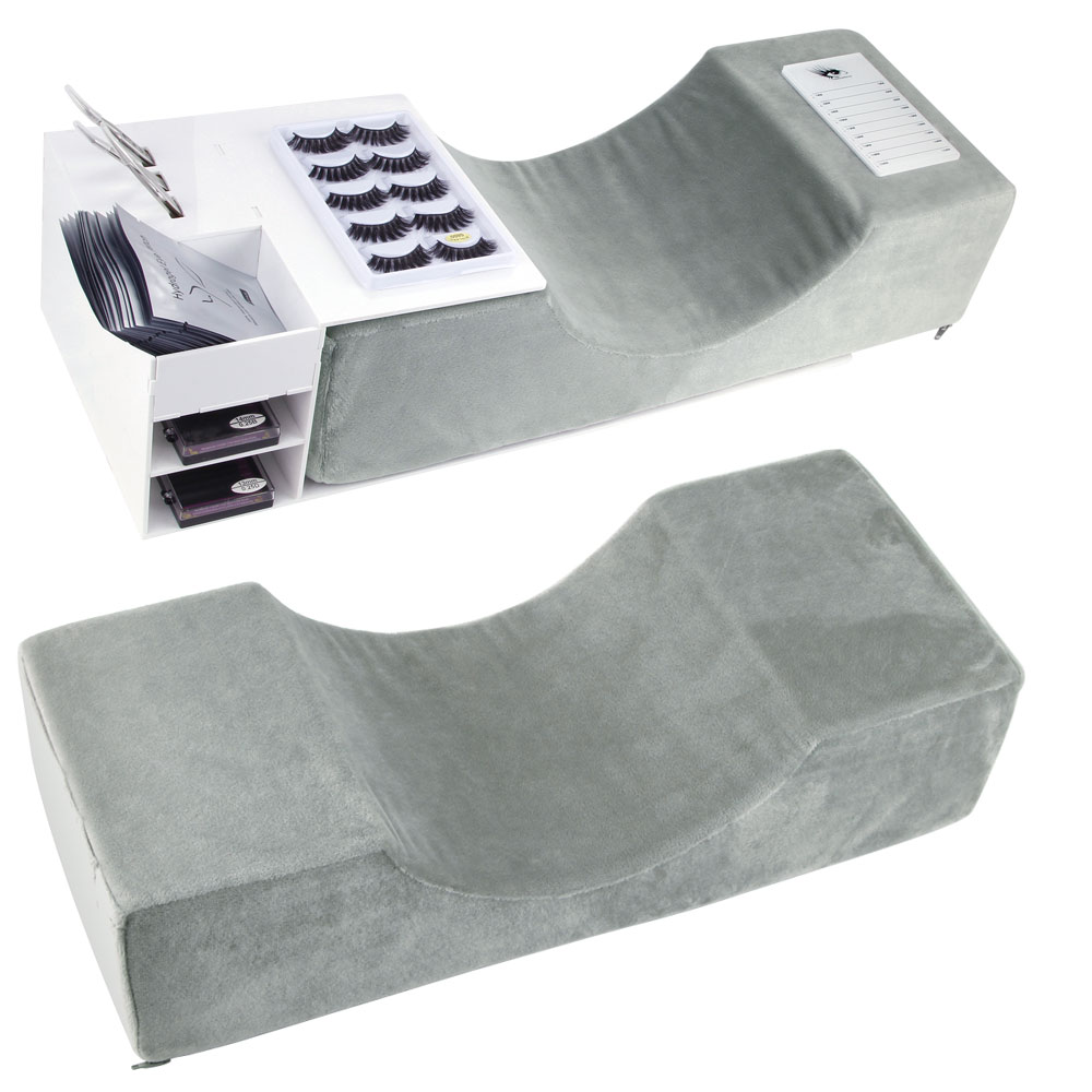 Extensão da pestana travesseiro flanela salão de beleza lash travesseiro ferramentas de maquiagem enxertia cílios travesseiro apoio ergonômico curva de extensão salão de beleza