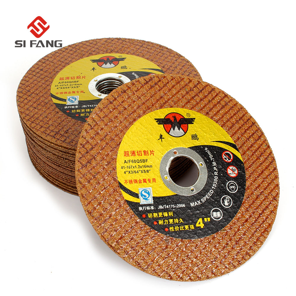 50Pcs 4 Resin Cutting Disc Cutting Wheel Grinding Disc for Stainless Steel & Metal Angle Grinder Accessories Super 107x1.2x16mm 50pcs set 2 roloc sanding disc scotch brite roll lock coarse surface conditioning for stainless steel standard alloyed steel