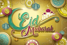 Laeacco Cartoon Mosque Eid Pattern Light Bokeh Scene Photography Backgrounds Customized Photographic Backdrops For Photo Studio