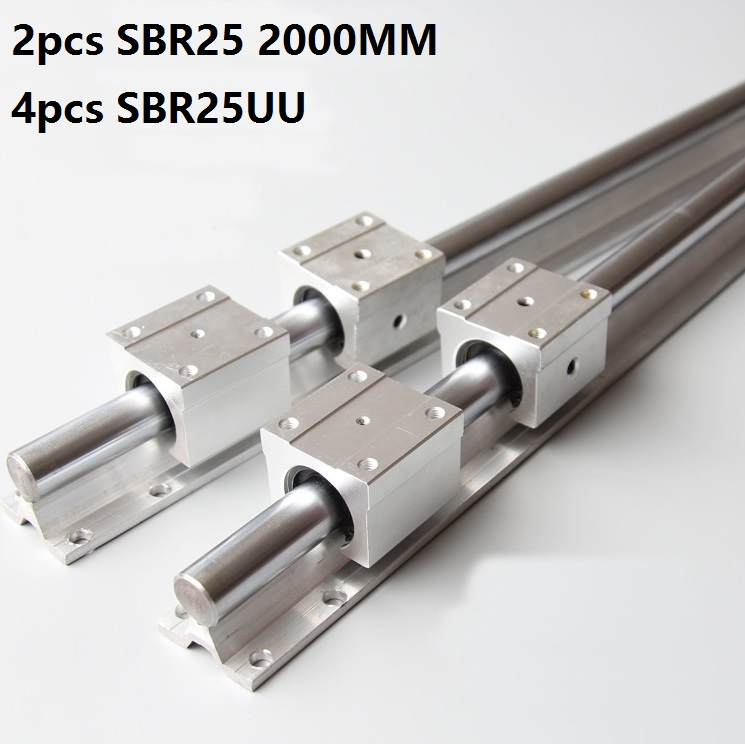 US 2pcs SBR10 300-1000mm Linear Rail Fully Supported Slide Shaft Rod CNC