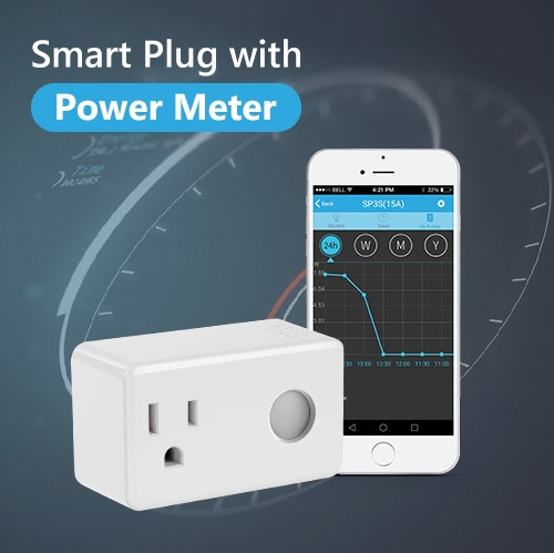 Smart Power Metering Plug Mini Socket Wi-Fi Outlet Compatible With Alexa Echo And Google Home, App Remote Control From Anywhere