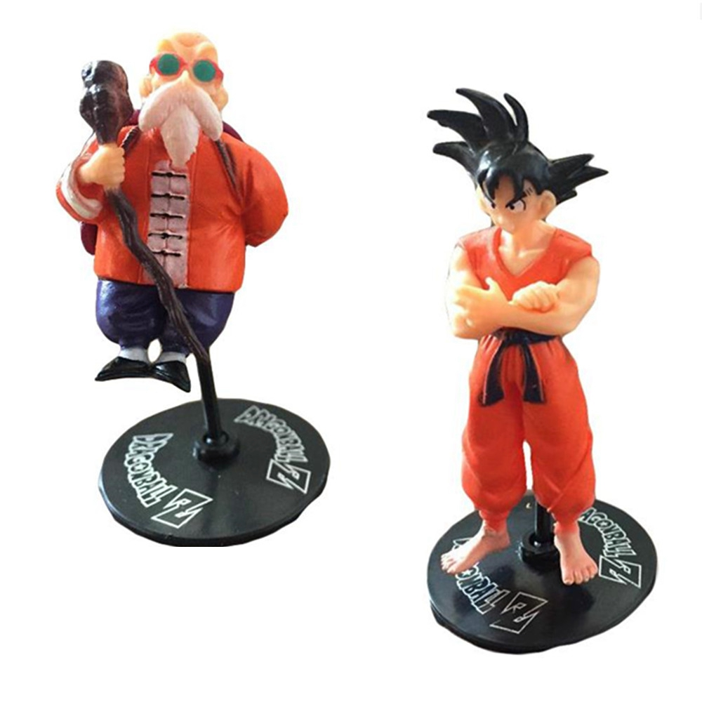 1 pcs Dragon Ball Z Action Figure Freeza Goku Gohan Anime Collection PVC Model With Stents Show Kid Gift Toy
