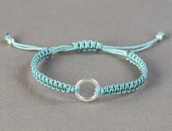 Hand made woven macrame thread Wax rope S925,birthday present wedding present friendship bracelet