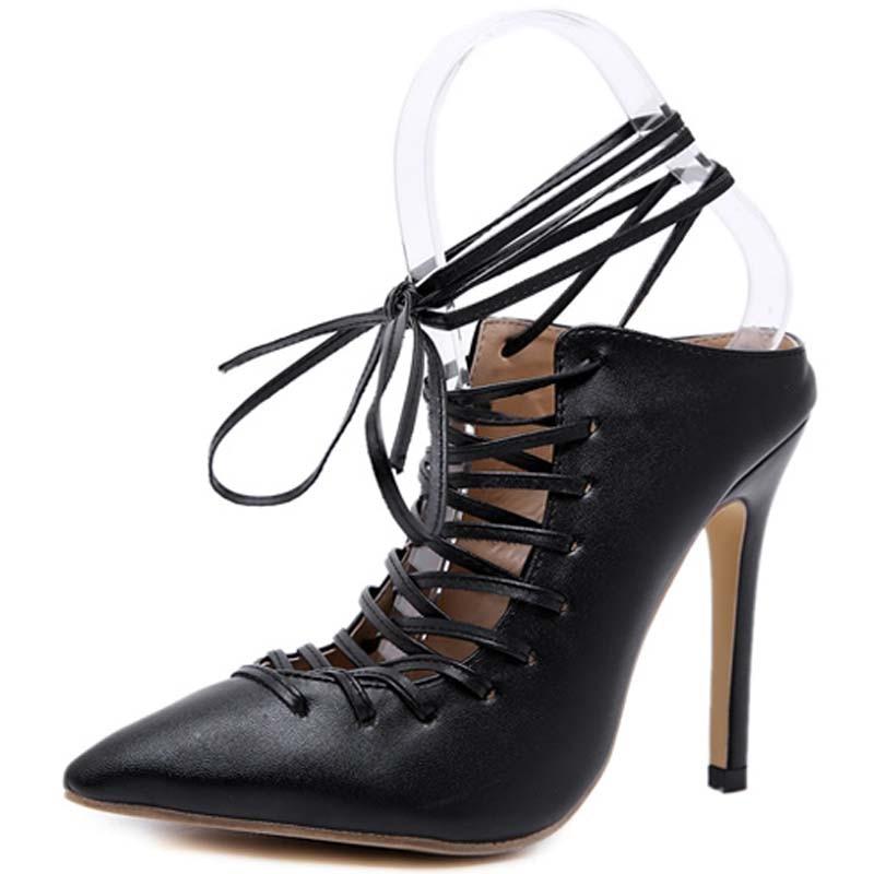 Y0218367q Zapatos Encaje Mujeres Negro De Clásico Altos Moda Tobillo Delgada Leopardo Tacones Sexy Sandalias Plataforma Mujer xvZqW86nw5