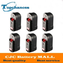 6PCS High Quality 2000mAh 18V NI-CD Replacement Power Tool Battery for Black & Decker HPB18 244760-00 A1718 A18