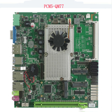 купить intel QM77 support i3 i5 i7 processor mini-itx format & PCIe x16 slot and mSata slot embedded industrial motherboard дешево