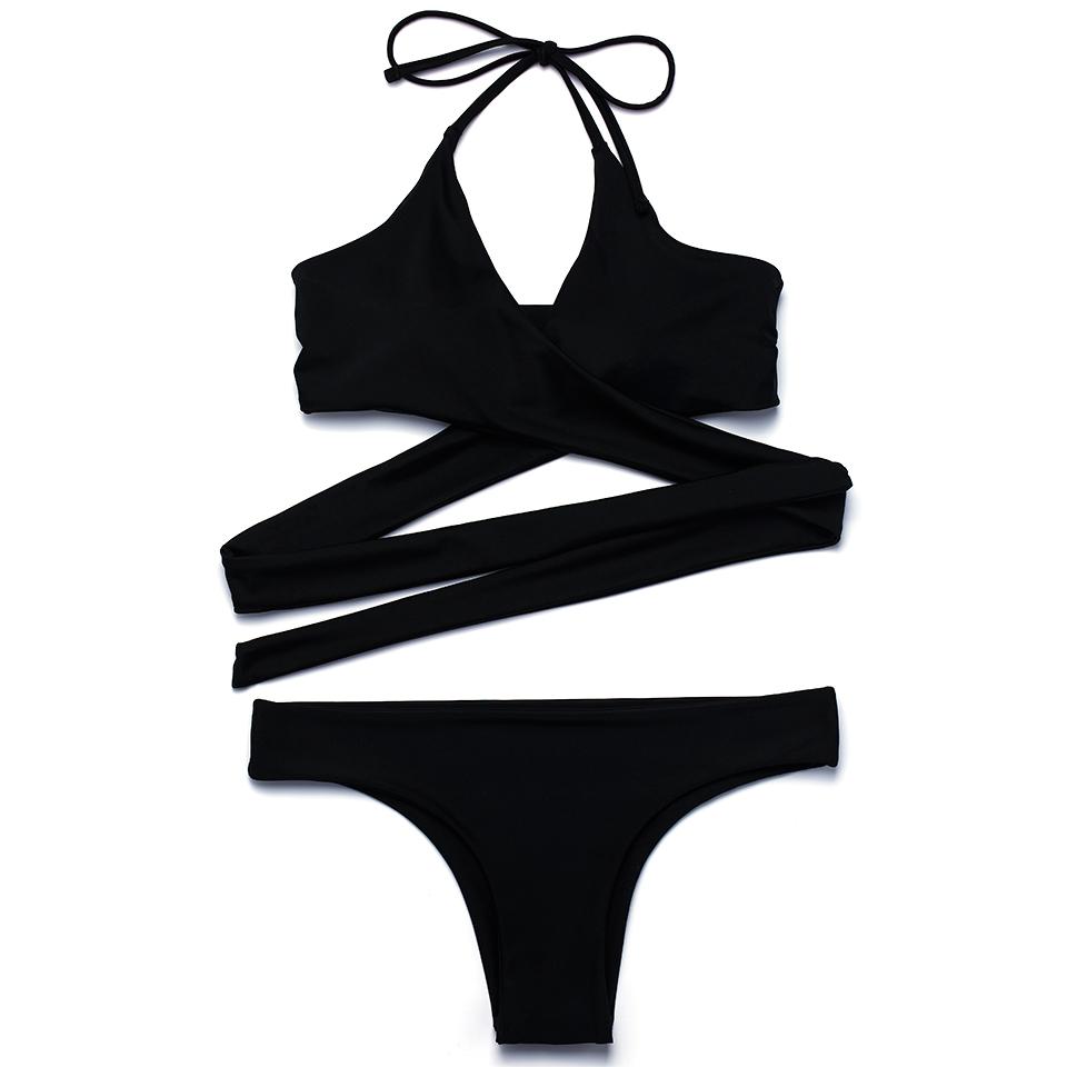 HTB1F7jmPVXXXXcNXFXXq6xXFXXXL - FREE SHIPPING Swimsuit Sexy Halter Swimwear Women Bathing Suit Push Up Strappy Bikini Set JKP268