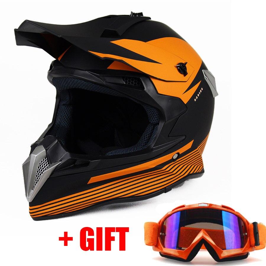 Casque de Moto tout-terrain lunettes de Moto ATV Dirt bike descente DH vtt Moto Moto Moto de course Motocross casques lunettes