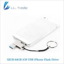 Comerciante ll 64 gb pendrive para ios iphone unidad flash usb otg mini usb 2.0 flash pen drive de disco memory stick de almacenamiento para el ipad ipod