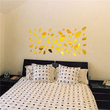 Hot 12Pcs 3D DIY Art  Mirror Vinyl Removable Wall Sticker Decal Home Christmas Decorations for bedrooms 9