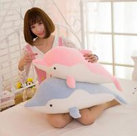 Plush toy dolphin doll cartoon software, creative feather cotton pillow valentine's day children's gifts.