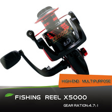 X5000 Spinning Wheel Fishing Reel  8+1 Hand Reel Casting Fishing Lure Fishing Line Tackle Tools