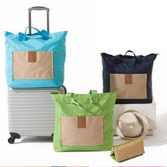 2015 Nuevas Mujeres de La Moda Bolsa de Viaje, Bolso de Viaje, Duffle del Recorrido, Bolso Plegable, Bolso de Las Mujeres gran Bolsa de Compras, Artículos de Viaje