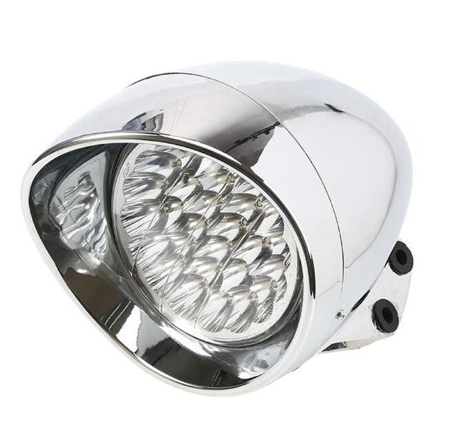 """New Chrome 7"""" Universal LED Motorcycle Bullet Headlight Light Fits For Harley Davidson Choppers Honda Steed Shadow"""