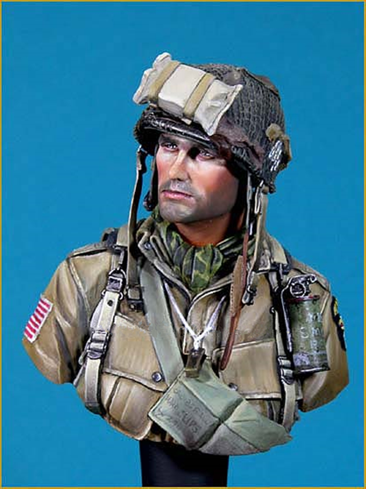 1/10 Resin Bust Model Kit WWII Soldier 101st Airborne Division  Unpainted
