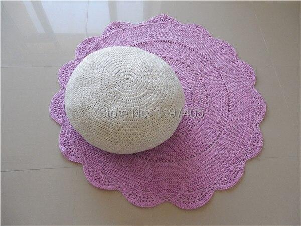 Hand Made Crochet Boden Sitzkissen Häkeln Hocker Hassock Ottomane