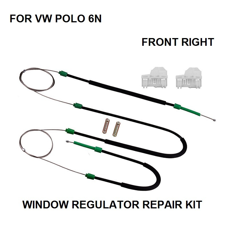 4/5 DOORS WINDOW REGULATOR REPAIR KIT FOR VW POLO 6N1 6N2 FRONT RIGHT NEW
