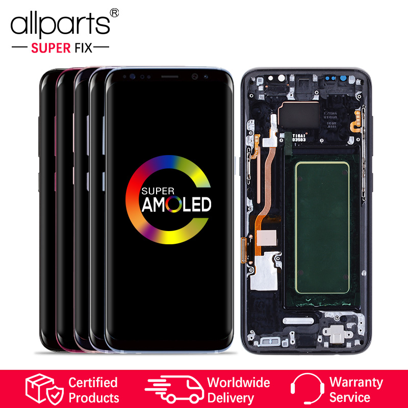 ORIGINAL AMOLED for SAMSUNG S8 LCD Display Touch Screen Digitizer Replacement for SAMSUNG GALAXY S8 Plus LCD SAMSUNG S8 LCD