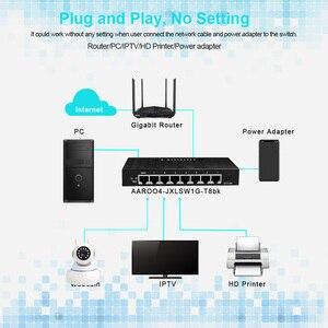 Image 4 - 8 יציאת מתג Gigabit 10/100/1000Mbps VLAN רכזת Ethernet מתג RJ45 שולחן העבודה רשת LAN מתג מלא חצי דופלקס להחליף