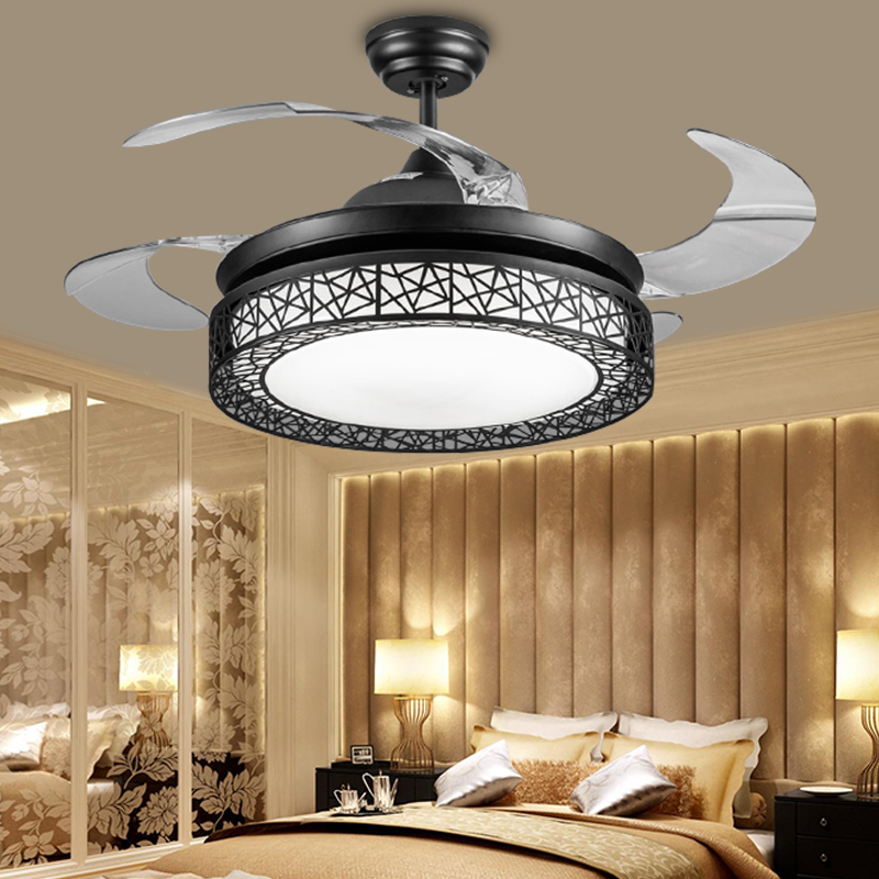 fan lights for bedrooms color dimming 42inch invisible bird nest led fan light 15249