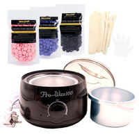 Hair Remover Black Waxing Machine Hard Wax Beans Body Epilation Warmer Set EU/US/UK/AU Plug Wax Depilatory Heater Pot Brazilian