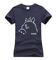 Hot Sale Anime Kawaii Totoro Cartoon T Shirt Women 2016 Summer Cotton High Quality Harajuku Women