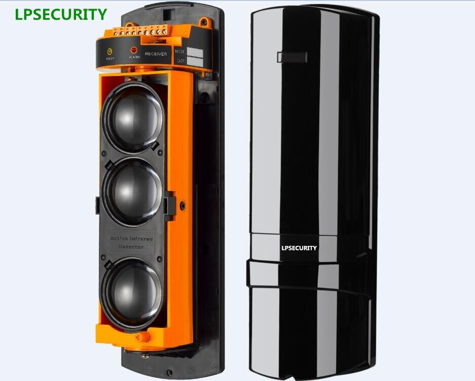 LPSECURITY 100m to 250m Intrusion Alarm Infrared Detector Burglar Alarm Photoelectric 3 Beam Perimeter Fence Window