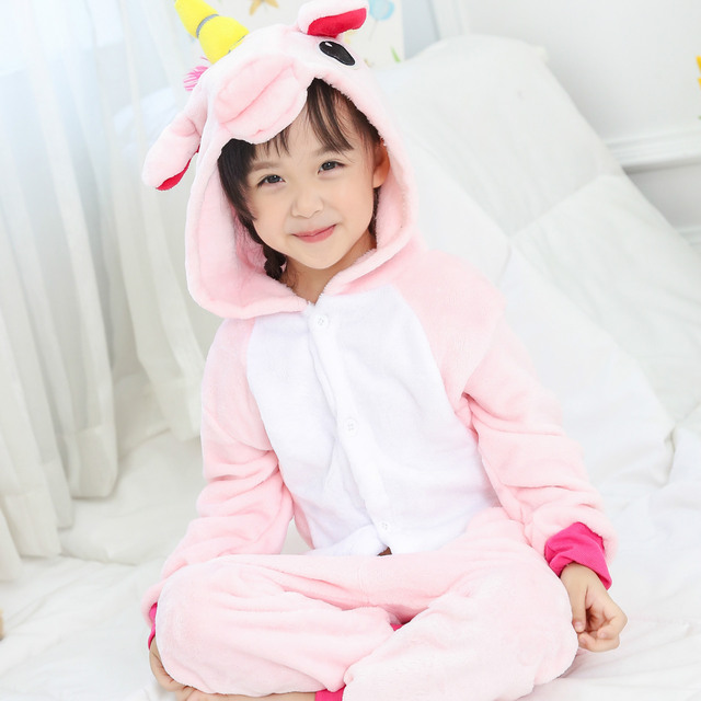 Hooded Flannel Pajamas for Girls